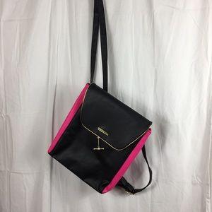 NWOT-Juicy Couture black vegan leather backpack